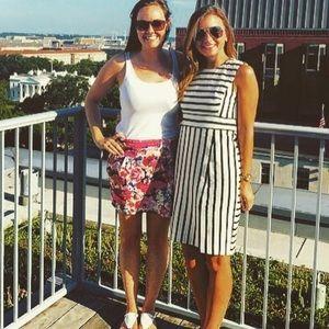 Ann Taylor Black and White Stripe Dress